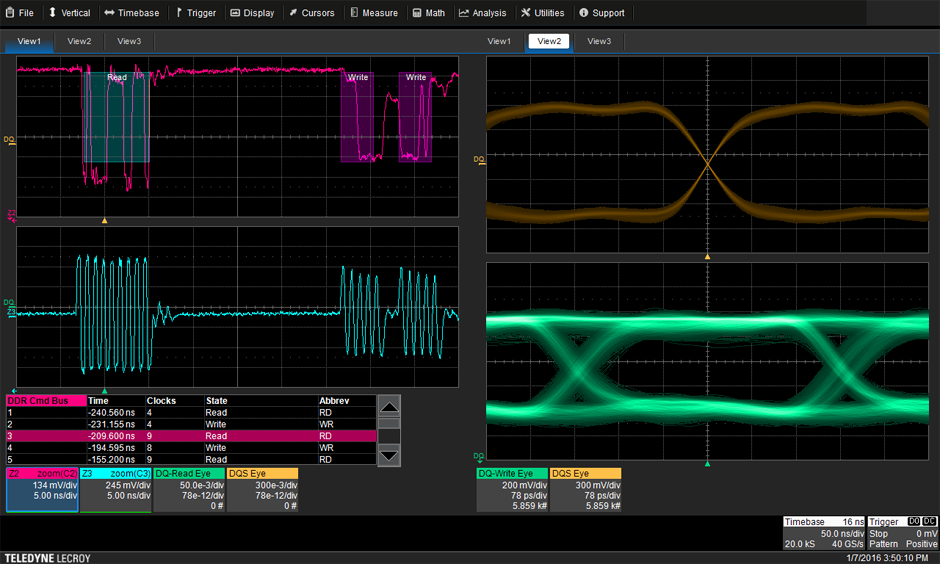 Ddr test suite teledyne lecroy automatic separation of read and write bursts eliminates the time consuming process of manual burst identification and simplifies the analysis of ddr ccuart Choice Image